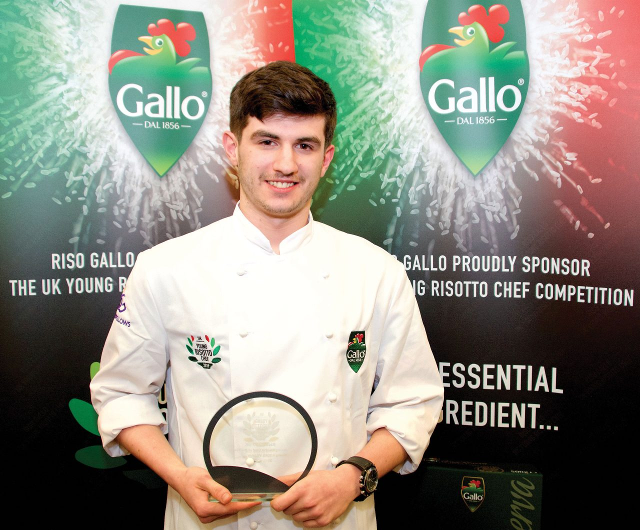 Andrew Williams - Winner of Young Risotto Chef of the Year 2019